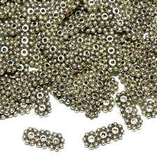 MXX7185L2 Daisy Flower 3-Strand 12mm Spacer Bar Antique Silver Metal Bead 250pc