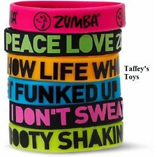 Zumba ~ Express Yourself Rubber Bracelets - 6 Pack! ~ Free Shipping!