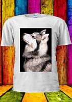 Siberian Wolf Esthetic Tumblr Husky T-shirt Vest Tank Top Men Women Unisex 1570