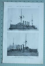More details for 1914 ww1 print h.m.s aboukir & h.m.s hogue cruisers