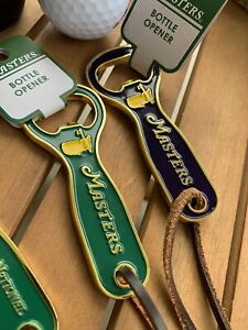 Masters 2021 Bottle Opener, Green, Leather Strap AUGUSTA NATIONAL Golf
