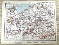 1905 Antik Eisenbahn Map Of Belgien Ghent Brussels Belgische Schienen Routen