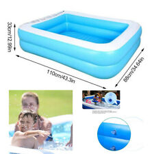 Family Swimming Pool Garden Outdoor Summer Inflatable Kids Paddling Pools 110cm