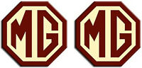 MG TF LE500 Styled 70mm Badge Insert Set Front Rear Logo Burgundy Cream