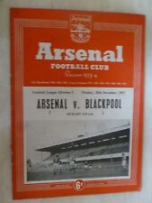 1953/54 Football Programme- ARSENAL v BLACKPOOL - 28th December
