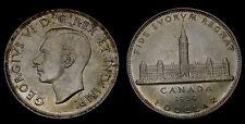 1939 Canada Silver Dollar George VI Parliament MS-62