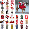 Pet Dog Warm Coat Snowflakes Printed Xmas Hoodie Sweater Clothes Winter Apparel