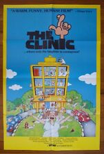 THE CLINIC Original 1980s American One Sheet Movie Poster Chris Haywood