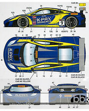 STUDIO 27 MP4-12C GT3 K-PAX #9 LONG BEACH 2014 DECAL for FUJIMI 1/24 McLAREN