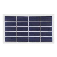 173x99mm 2W 5V Polycrystalline Silicon Solar Panel with Alligator Clips R1BO