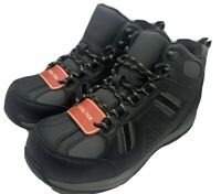 Safe T Step Comfort Steel Toe Slip Resistant Sole Black Foundry MID Size 7