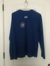 Under Armour HeatGear LongHorn Rangers Men's Long Sleeve Shirt Top Sz M Clothes