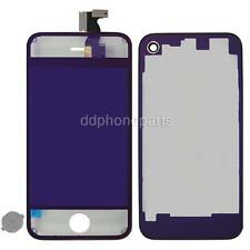 Plating Mirror LCD Screen Touch Digitizer +Back Cover for iPhone 4 CDMA Purple