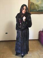CAPPOTTO VISONE FUR COAT MINK FOURRURE VISON pelliccia норка Real Mink Fur Coat