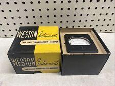 New Vintage Weston Model 301 0 200 Microamperes Dc Dc Panel Meter Cool Nib Nos