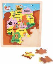 Legler Holzpuzzle Einlegepuzzle Deutschland 4241 Bundesländer Rahmenpuzzle