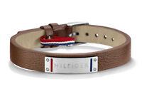 Tommy Hilfiger Herren Armband 2700680  Edelstahl,Leder