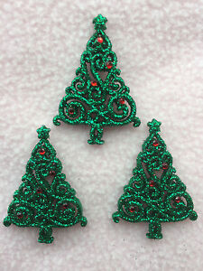 DRESS IT UP BUTTONS ~ CHRISTMAS ELEGANCE ~ 3  BEAUTIFUL TREES