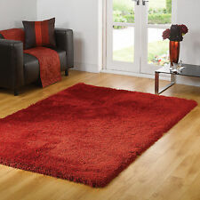 Soft Shaggy High Quality Summertime Thick Red Large Rug in 160 X 230 Cm Carpet