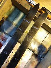 Vintage 1960s All Black Head Master Skis w/ Cubco bindings