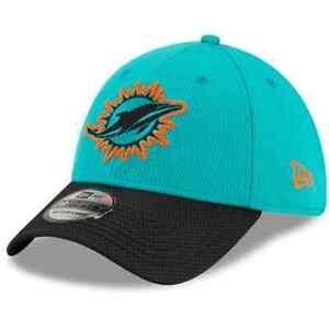 Brand New 2021 NFL Miami Dolphins New Era Sideline Road 39THIRTY Flex Hat NWT