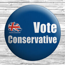 Vote Conservative Badge 1.5 inch / 38mm Novelty Gift Boris Johnson Tory Tories