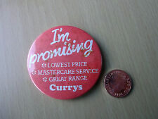 Vintage - I'm Promising.....etc - Currys - Badge - Electrical Store