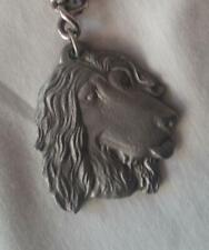 Vintage 1982 Rawcliffe Pewter I Love My Afghan Hound Keychain Key Ring Made Usa
