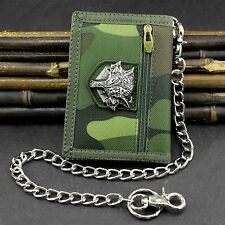 Cavans Camouflage Tri-fold card/Money Wallet With Safe Chain For Mens/Boys