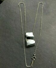 RARE TIFFANY & CO  FRANK GEHRY STERLING SILVER FOLD PENDANT NECKLACE DESIGNER