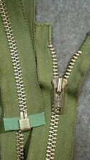"1-ZIPPER USA Vtg ""TALON"" #5 Jacket/Separating Metal BRASS=20.75"" AVACODO/COTTON"