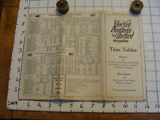 Vintage paper: 1939 NY NH & H, time tables BOSTON & PROVIDENCE NARRAGANSETT PIER
