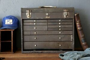 Vintage 10 Drawer Machinist Tool Chest Park Mfg Jewelry Box Vintage Cabinet
