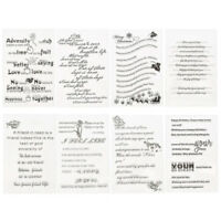 Christmas Transparent Clear Stamp DIY Scrapbooking Craft  Embossing Card Making