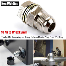 10 AN to M18x1.5mm Turbo Oil Pan Adaptor Bung Return Drain Plug Non Welding Nut