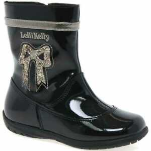 LELLI KELLY BAILEY BABY GIRLS INFANT BLACK PATENT LEATHER CHILDRENS ANKLE BOOTS