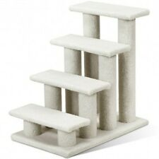 New listing 4-Step Pet Stairs Carpeted Ladder Ramp Scratching Post Cat Tree Climber