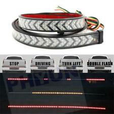 "60"" Red Yellow Truck Tailgate LED Strip Light Bar 4-Function W/ Scanning Driving"