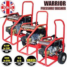 More details for 3000 3400 3700 psi petrol pressure washer kiam warrior high power jet cleaner