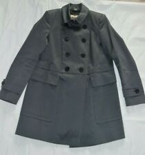 Burberry Slate Grey Double Breasted Button Up Jacket Peacoat Womens UK 8 US 6
