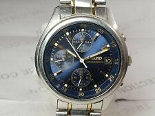 Vintage Seiko Chronograph Quartz  Movement Date Mens Wrist Watch OG521