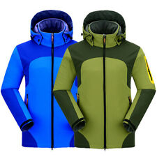 Men Windproof Coat Ski Hiking Jacket Hooded Snow Jackets Fishing Fleece Outwear