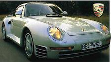 1986/1987/1988 Porsche 959 SPEC Hoja/FOLLETO/FOLLETO / CATALOG