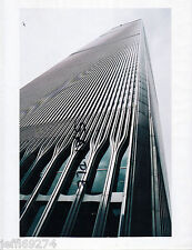 Photo of 2 WORLD TRADE CENTER WTC SOUTH TOWER NYC w PLANE IN SKY 1980s Free Ship