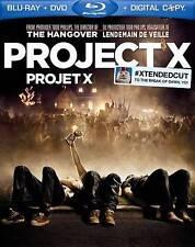 Project X (Blu-ray/DVD,Digital Copy 2012, Bilingual) Free shipping in Canada