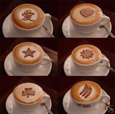 Espresso Coffee Machine Barista Stencils - 6 designs