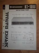 Kenwood Service Manual~KT-1000 Tuner~Original Repair