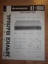 Kenwood Service Manual~KT-1000 Tuner~Original Repair