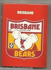 1989 AFL VFL SCANLENS BRISBANE BEARS LIONS TEAM SET ALL 11 CARD