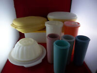 Lot Of 10 Vintage Tupperware Food Drink Storage Containers & Cups